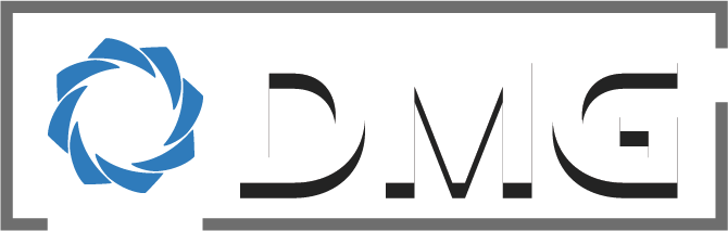 DMG logo with drop shadow