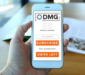 DMGN newsletter subscription call to action tile