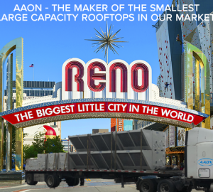 aaon truck delivering to reno nv